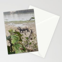 Wild Rhino - Chitwan National Park, Nepal Stationery Cards