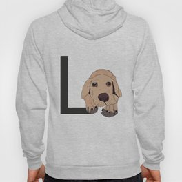 L is for Labrador Dog Hoody