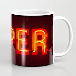 Super Vintage Red Neon Glowing Letters Coffee Mug