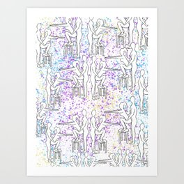 Funfetti Friends Art Print