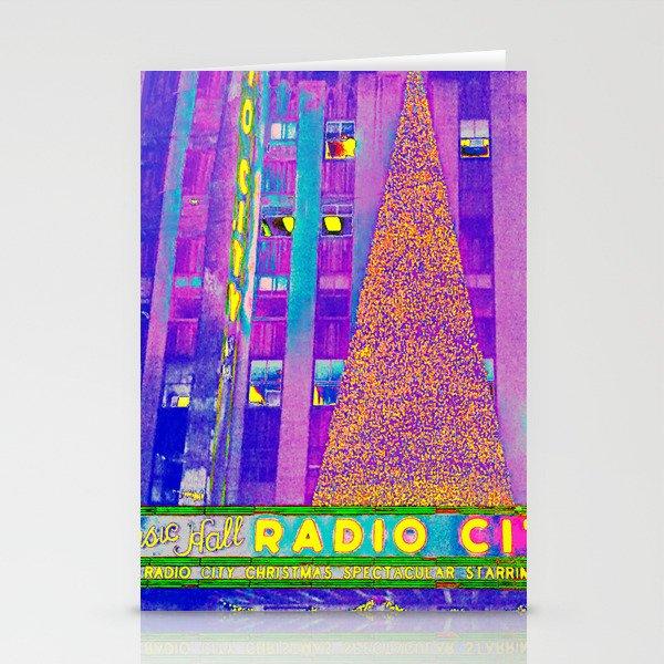 Radio City Music Hall with Holiday Tree, New York City, New York Stationery Cards