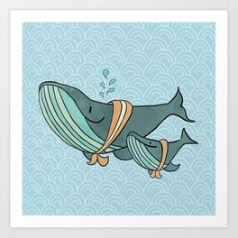 Whale of a Tail Art Print