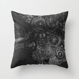 Distressed Ink Multi Mandala Graphic Design Throw Pillow