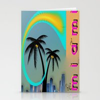 miami Stationery Cards featuring Miami by Dunksauce Art