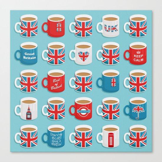 A Very British Brew Canvas Print