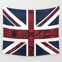 union jack Wall Tapestries featuring Union Jack by Sophie H.