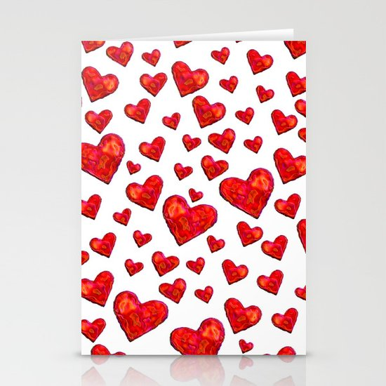 Hearts Motif Stationery Cards