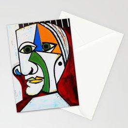 GREEN EYE MAN Stationery Cards