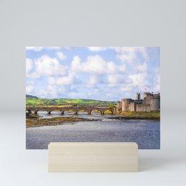 Thomond Bridge and King Johns Castle Mini Art Print