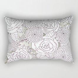 Floral Doodles in Gray Rectangular Pillow