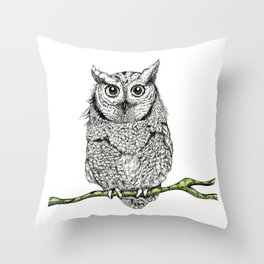 owl elders Throw Pillow