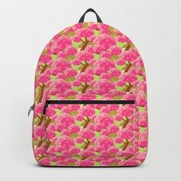 seamless sakura tree pattern Backpack