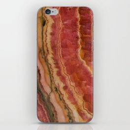Salmon Striped Quartz iPhone Skin