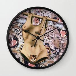 Feline fatale Wall Clock