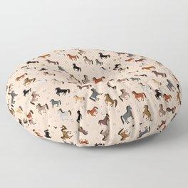 Horse Pattern   Horseback Riding Pony Stallion Floor Pillow