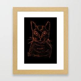 Hunter Stray Cat Framed Art Print