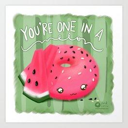 One in a melon Art Print