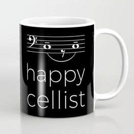 Happy cellist (dark colors/bass clef) Coffee Mug