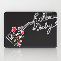 roller derby iPad Cases featuring Roller Derby Cassette Tape by LucyDynamite