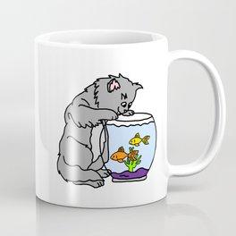 Kitten And Fish Bowl Coffee Mug