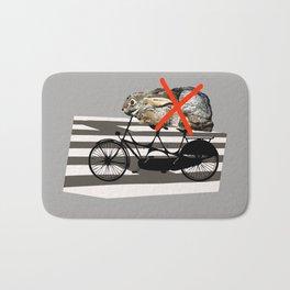 NO RABBITS ON TANDEM BICYCLE Bath Mat