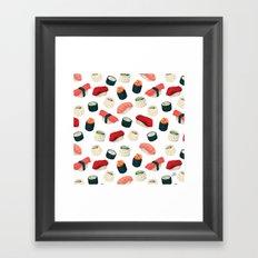 Sushi Pattern Framed Art Print
