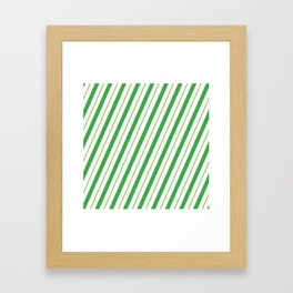 Green Peppermint - Christmas Illustration Framed Art Print