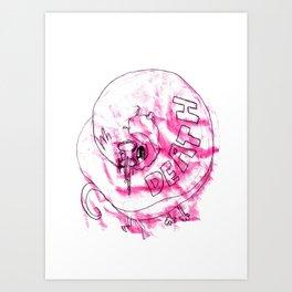 DEATH WORM Art Print