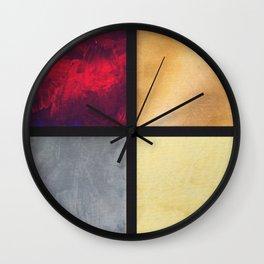Four Squares 001 Wall Clock