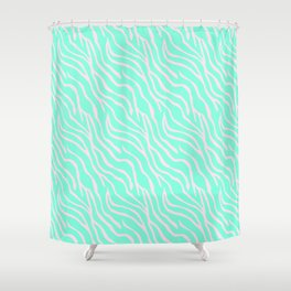 Green zebra Shower Curtain