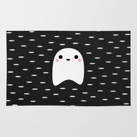 ghost Area & Throw Rugs featuring Ghost by Elisabeth Fredriksson