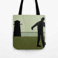 walking dead Tote Bags featuring Walking Dead by Drix Design