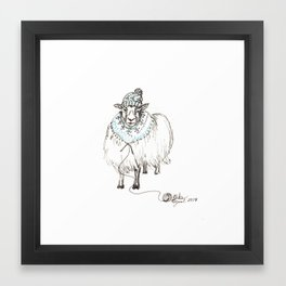 Knitwear Sheep Framed Art Print