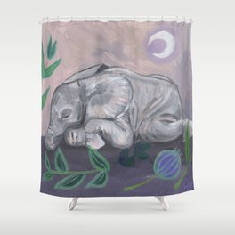 What Does the Elephant Dream? Shower Curtain