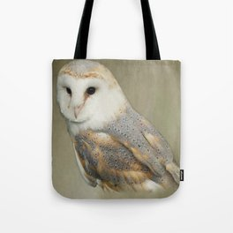 Barn Owl Portait Tote Bag