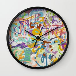 Shamanic Painting 09 Wall Clock