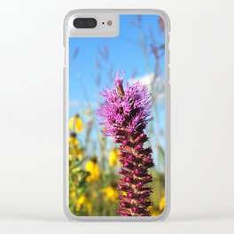 Prarie Liatris and coneflowers Clear iPhone Case