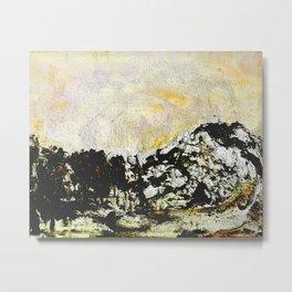 Golden mountains Metal Print