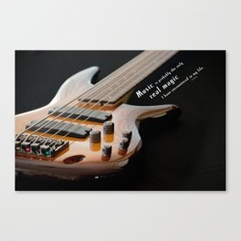 Music is Real Magic Canvas Print