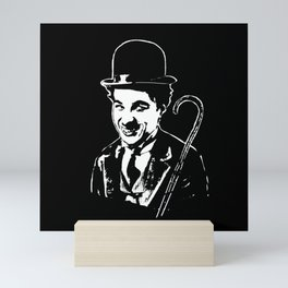 CHARLIE CHAPLIN THE COMIC GENIUS Mini Art Print