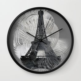 Grey Day in Paris Wall Clock