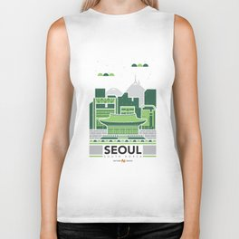 City Illustrations (Seoul, South Korea) Biker Tank