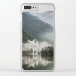 Dreamlike Morning at the Lake - Nature Forest Mountain Photography Clear iPhone Case