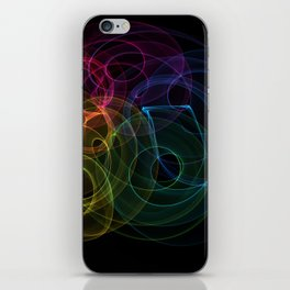Color Swirl Light Paint iPhone Skin