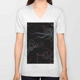 Octopus color Unisex V-Neck