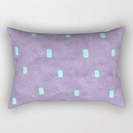 Purple Cute Simple Turquoise Pattern Rectangular Pillow