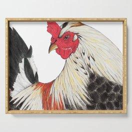 Chicken Portrait Serving Tray