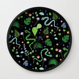 Snakes and Plants Wall Clock