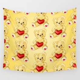 Teddy Bear Hypnotist Wall Tapestry