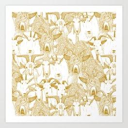 just goats gold Art Print
